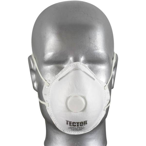 Feinstaub Halbrundmaske 4231 FFP1 NR mit Ventil - Tector®