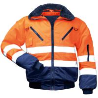 4in1 Warnschutz Pilotjacke ERIK orange - NORWAY®