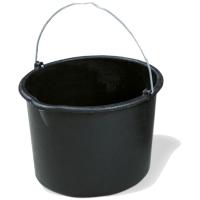 Baueimer schwarz 12l
