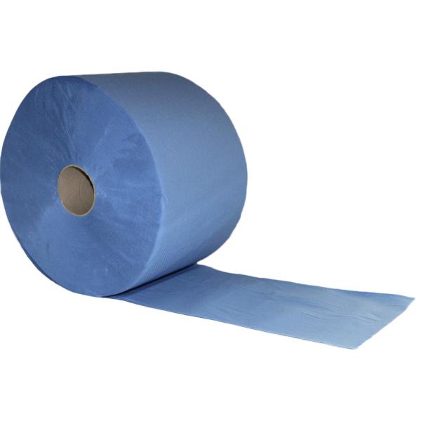 1000 Blatt Putztuchrolle 22 cm x 36 cm, blau - Plock®