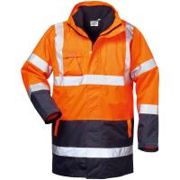 4in1 Warnschutz Parka TRAVIS orange - Safestyle®