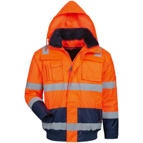 4in1 Warnschutz Pilotjacke OLIVER orange - Elysee®