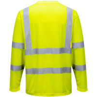 Warnschutz Langarm T-Shirt gelb - Portwest®