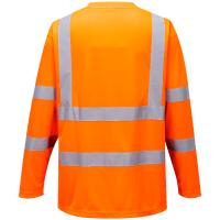 Warnschutz Langarm T-Shirt orange - Portwest®