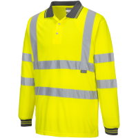 Langarm Warnschutz Polo Shirt gelb - Portwest®