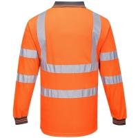 Langarm Warnschutz Polo Shirt orange - Portwest®