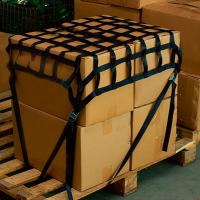 Gurtbandnetz 0,9 m x 0,9 m schwarz - Tector®