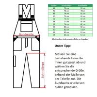 Warnschutz Latzhose BUFFALO gelb/navy - Texxor®