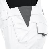 Latzhose Flex-Line weiß/grau - Leibwächter®