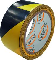Bodenmarkierungs- u. Warnband 50 mm x 25 m,  schwarz/gelb - Evertec®