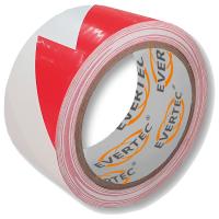 Bodenmarkierungs- u. Warnband 50 mm x 25 m,  rot/weiß - Evertec®