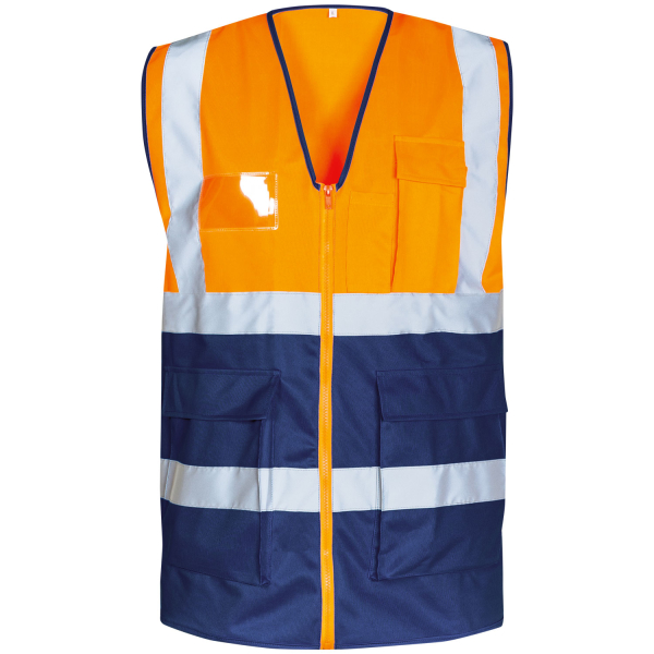 Warnschutz Weste KORNEL orange/marine - Safestyle®