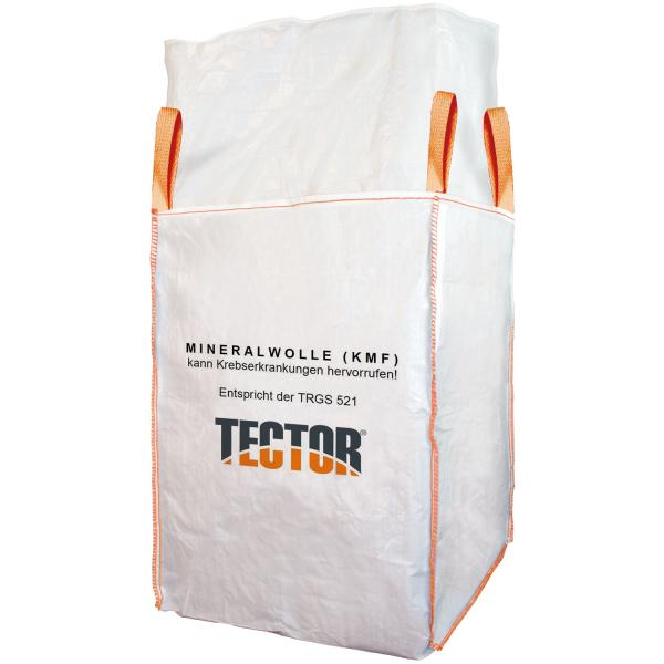 Big Bag Mineralwolle mit 4 Hebeschlaufen 125 x 125 x 150 cm (84672) - Tector®