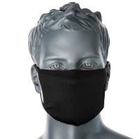 3 lagige Anti Mikrobielle Gesichtsmaske schwarz -...