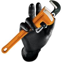 Nitril Einweghandschuhe puderfrei GRIP SCHWARZ - Stronghand®