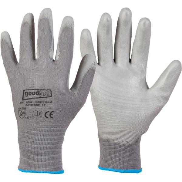 PU Montagehandschuhe Farbe grau