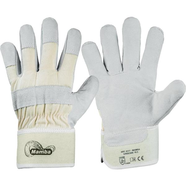 Rindspaltleder Handschuhe MAMBA - Stronghand®