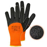 Winter Arbeitshandschuhe in Orange mit Latex beschichtet...
